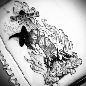 Фото рисунка тату НА ТЕМУ ВЕДЬМ 28.01.2021 №0018 - witch tattoo - tattoo-photo.ru