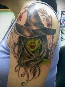 Фото рисунка тату НА ТЕМУ ВЕДЬМ 28.01.2021 №0020 - witch tattoo - tattoo-photo.ru