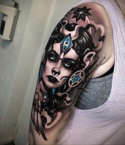 Фото рисунка тату НА ТЕМУ ВЕДЬМ 28.01.2021 №0025 - witch tattoo - tattoo-photo.ru