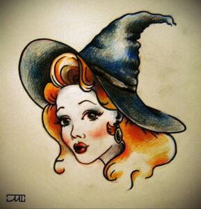Фото рисунка тату НА ТЕМУ ВЕДЬМ 28.01.2021 №0037 - witch tattoo - tattoo-photo.ru