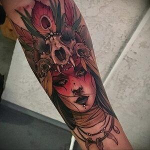 Фото рисунка тату НА ТЕМУ ВЕДЬМ 28.01.2021 №0038 - witch tattoo - tattoo-photo.ru