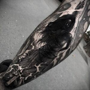 Фото рисунка тату НА ТЕМУ ВЕДЬМ 28.01.2021 №0043 - witch tattoo - tattoo-photo.ru