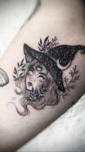 Фото рисунка тату НА ТЕМУ ВЕДЬМ 28.01.2021 №0060 - witch tattoo - tattoo-photo.ru