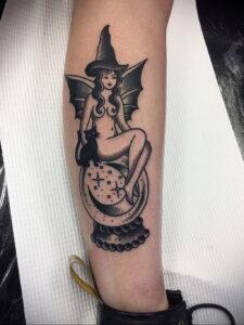 Фото рисунка тату НА ТЕМУ ВЕДЬМ 28.01.2021 №0065 - witch tattoo - tattoo-photo.ru