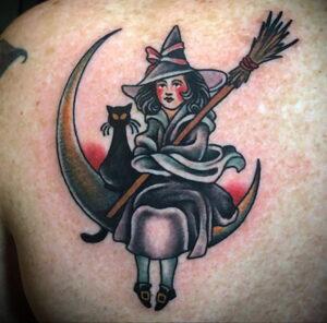 Фото рисунка тату НА ТЕМУ ВЕДЬМ 28.01.2021 №0066 - witch tattoo - tattoo-photo.ru