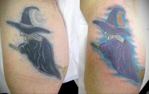 Фото рисунка тату НА ТЕМУ ВЕДЬМ 28.01.2021 №0080 - witch tattoo - tattoo-photo.ru