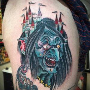 Фото рисунка тату НА ТЕМУ ВЕДЬМ 28.01.2021 №0087 - witch tattoo - tattoo-photo.ru