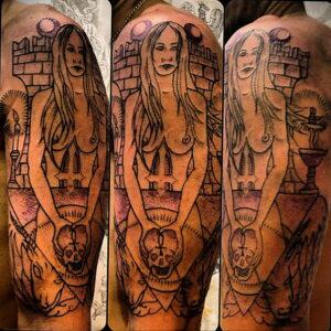 Фото рисунка тату НА ТЕМУ ВЕДЬМ 28.01.2021 №0091 - witch tattoo - tattoo-photo.ru