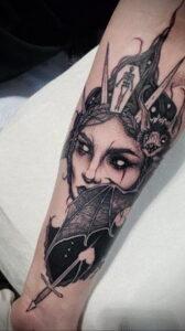 Фото рисунка тату НА ТЕМУ ВЕДЬМ 28.01.2021 №0115 - witch tattoo - tattoo-photo.ru