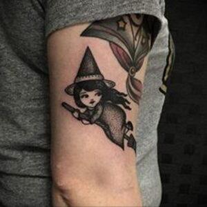 Фото рисунка тату НА ТЕМУ ВЕДЬМ 28.01.2021 №0117 - witch tattoo - tattoo-photo.ru