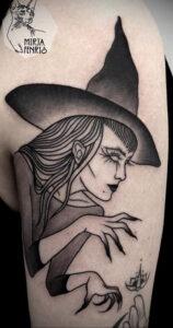 Фото рисунка тату НА ТЕМУ ВЕДЬМ 28.01.2021 №0119 - witch tattoo - tattoo-photo.ru