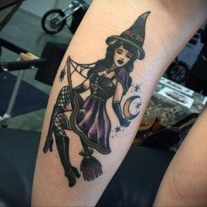 Фото рисунка тату НА ТЕМУ ВЕДЬМ 28.01.2021 №0131 - witch tattoo - tattoo-photo.ru