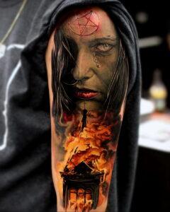 Фото рисунка тату НА ТЕМУ ВЕДЬМ 28.01.2021 №0141 - witch tattoo - tattoo-photo.ru