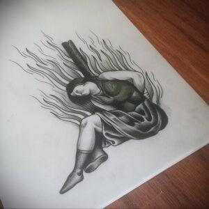 Фото рисунка тату НА ТЕМУ ВЕДЬМ 28.01.2021 №0142 - witch tattoo - tattoo-photo.ru