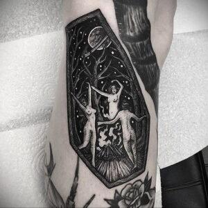 Фото рисунка тату НА ТЕМУ ВЕДЬМ 28.01.2021 №0167 - witch tattoo - tattoo-photo.ru