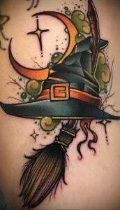 Фото рисунка тату НА ТЕМУ ВЕДЬМ 28.01.2021 №0170 - witch tattoo - tattoo-photo.ru