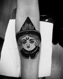 Фото рисунка тату НА ТЕМУ ВЕДЬМ 28.01.2021 №0173 - witch tattoo - tattoo-photo.ru