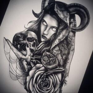 Фото рисунка тату НА ТЕМУ ВЕДЬМ 28.01.2021 №0174 - witch tattoo - tattoo-photo.ru