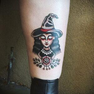Фото рисунка тату НА ТЕМУ ВЕДЬМ 28.01.2021 №0177 - witch tattoo - tattoo-photo.ru