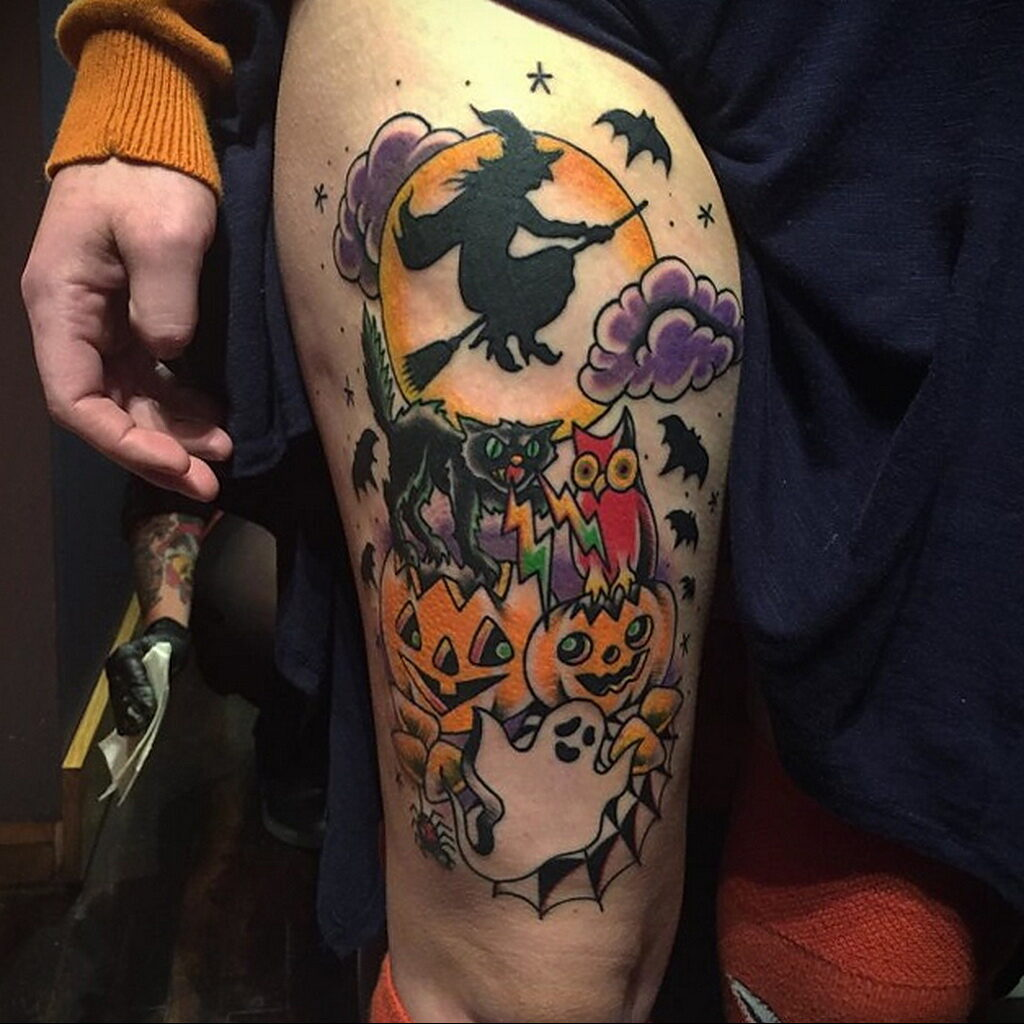 Фото рисунка тату НА ТЕМУ ВЕДЬМ 28.01.2021 №0179 - witch tattoo - tattoo-photo.ru