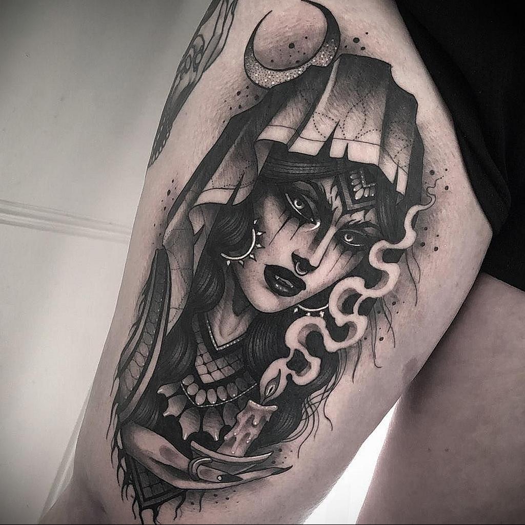 Фото рисунка тату НА ТЕМУ ВЕДЬМ 28.01.2021 №0182 - witch tattoo - tattoo-photo.ru
