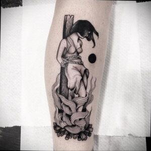 Фото рисунка тату НА ТЕМУ ВЕДЬМ 28.01.2021 №0183 - witch tattoo - tattoo-photo.ru