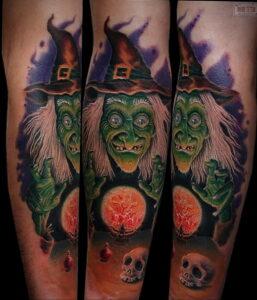 Фото рисунка тату НА ТЕМУ ВЕДЬМ 28.01.2021 №0188 - witch tattoo - tattoo-photo.ru