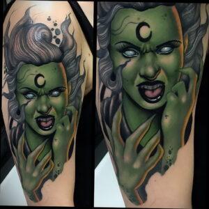 Фото рисунка тату НА ТЕМУ ВЕДЬМ 28.01.2021 №0193 - witch tattoo - tattoo-photo.ru