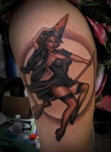 Фото рисунка тату НА ТЕМУ ВЕДЬМ 28.01.2021 №0196 - witch tattoo - tattoo-photo.ru