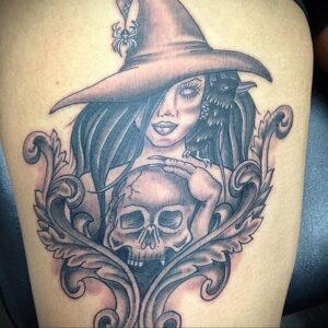 Фото рисунка тату НА ТЕМУ ВЕДЬМ 28.01.2021 №0197 - witch tattoo - tattoo-photo.ru