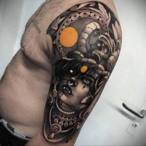 Фото рисунка тату НА ТЕМУ ВЕДЬМ 28.01.2021 №0198 - witch tattoo - tattoo-photo.ru