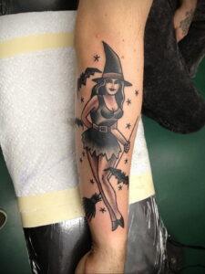 Фото рисунка тату НА ТЕМУ ВЕДЬМ 28.01.2021 №0200 - witch tattoo - tattoo-photo.ru