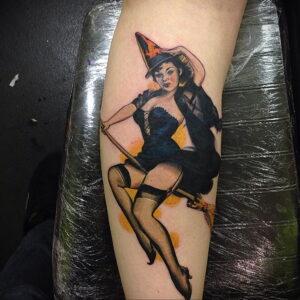 Фото рисунка тату НА ТЕМУ ВЕДЬМ 28.01.2021 №0203 - witch tattoo - tattoo-photo.ru