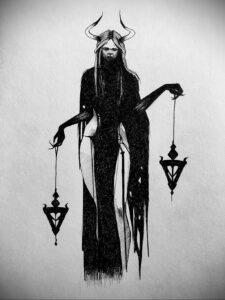 Фото рисунка тату НА ТЕМУ ВЕДЬМ 28.01.2021 №0207 - witch tattoo - tattoo-photo.ru