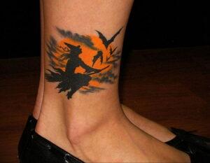 Фото рисунка тату НА ТЕМУ ВЕДЬМ 28.01.2021 №0209 - witch tattoo - tattoo-photo.ru