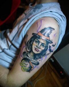 Фото рисунка тату НА ТЕМУ ВЕДЬМ 28.01.2021 №0211 - witch tattoo - tattoo-photo.ru