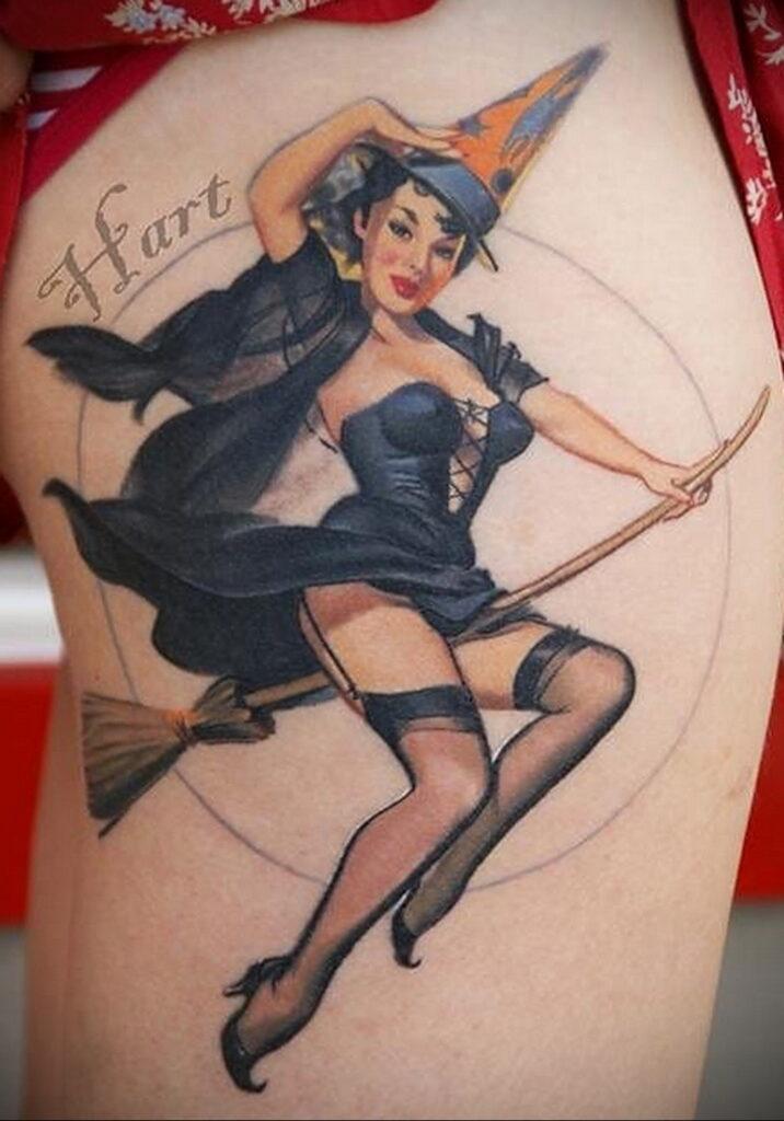 Фото рисунка тату НА ТЕМУ ВЕДЬМ 28.01.2021 №0213 - witch tattoo - tattoo-photo.ru