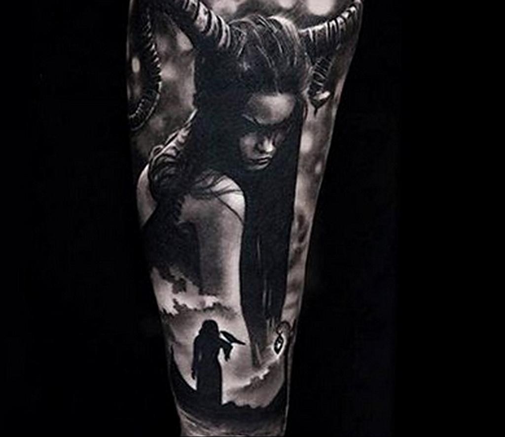 Фото рисунка тату НА ТЕМУ ВЕДЬМ 28.01.2021 №0237 - witch tattoo - tattoo-photo.ru
