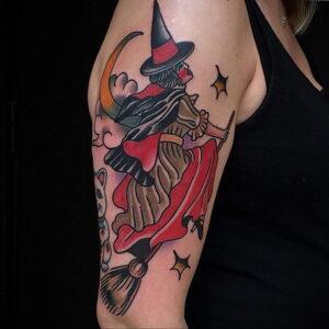 Фото рисунка тату НА ТЕМУ ВЕДЬМ 28.01.2021 №0263 - witch tattoo - tattoo-photo.ru