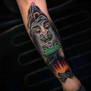 Фото рисунка тату НА ТЕМУ ВЕДЬМ 28.01.2021 №0273 - witch tattoo - tattoo-photo.ru