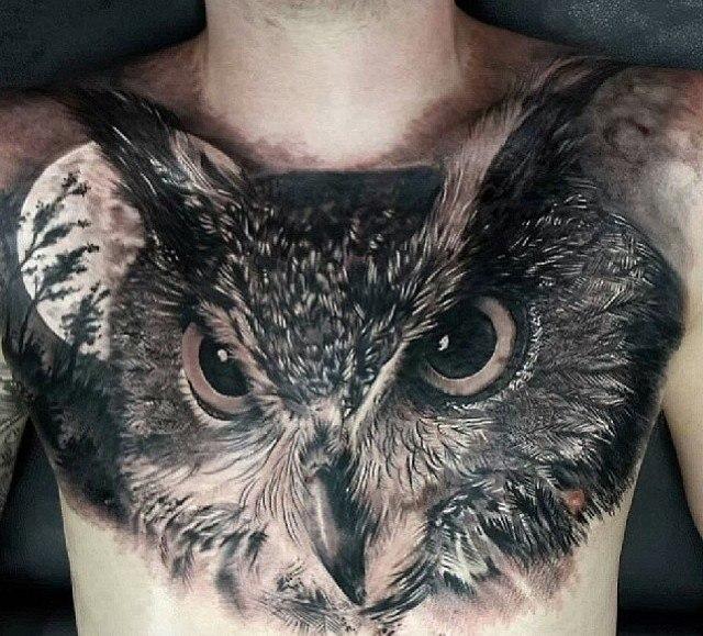 картинки татуировок сова